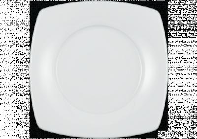 Serie Savoy, weiß Teller, flach eckig 22,5×22,5cm