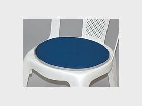 Stuhlkissen, blau/rund