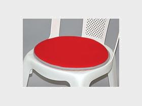 Stuhlkissen, rot/rund Artikelnummer: 62045 VPE 10 St. Preis: 0,70 €/ME*