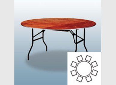 Bankett-Tisch 160cm Artikelnummer: 61001 Preis: 10,00 €/ME*