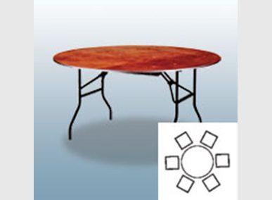 Bankett-Tisch 122cm Artikelnummer: 61010 Preis: 7,50 €/ME*