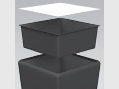 Einsatz SQUARE schwarz Artikelnummer: 63204 Preis: 15,00 €/ME*