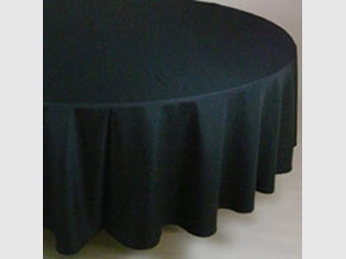Tischdecke schwarz Ø 280cm