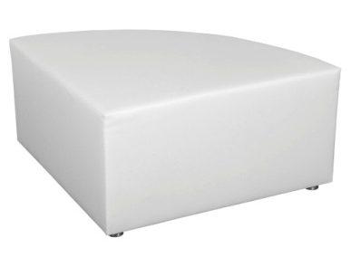 Hocker White Lounge Exklusiv mit Edelstahlfüßen (Viertelkreis) Artikelnummer: 80048 Preis: 42,00 €/ME*