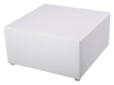 Sitzwürfel White Lounge Exklusiv mit Edelstahlfüßen Artikelnummer: 80042 Preis: 32,00 €/ME*