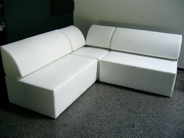 eck sessel white lounge exklusiv mit edelstahlf en artikelnummer 80046 preis 45 00 me. Black Bedroom Furniture Sets. Home Design Ideas